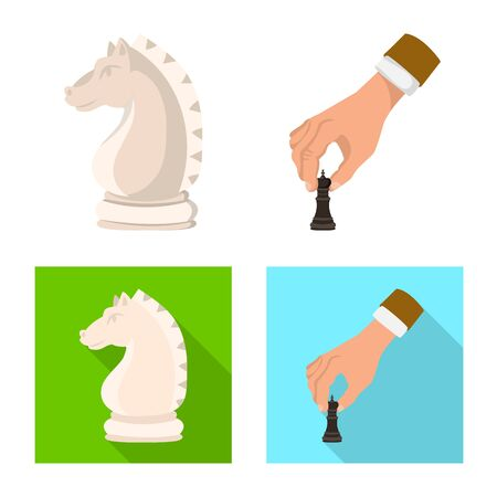Isolated object of checkmate and thin sign. Collection of checkmate and target vector icon for stock.