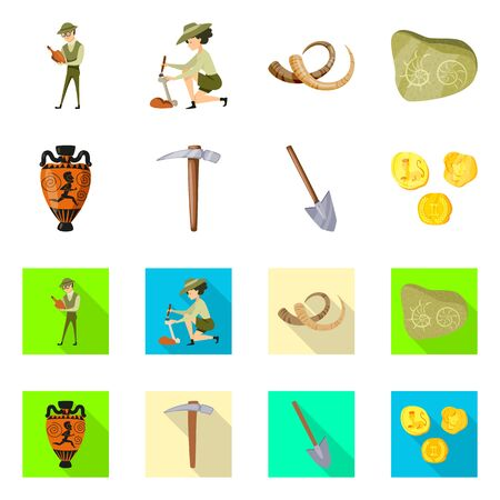 Isolated object of story and items icon. Set of story and attributes vector icon for stock.