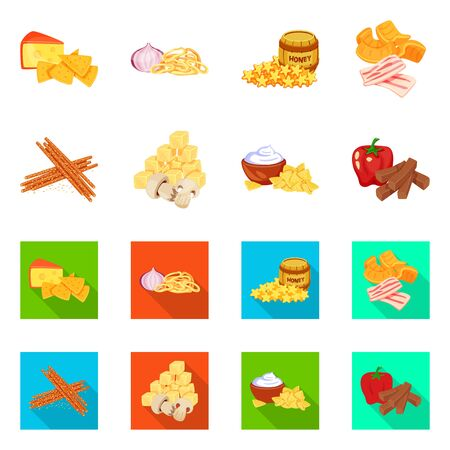 Vector design of taste and seasonin icon. Collection of taste and organic vector icon for stock. Иллюстрация