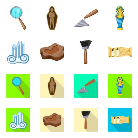 Vector design of story and items icon. Collection of story and attributes stock symbol for web.