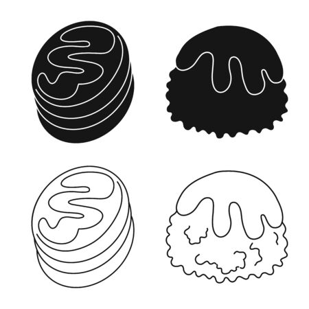 Vector illustration of confectionery and culinary icon. Set of confectionery and product vector icon for stock. Imagens - 128438794