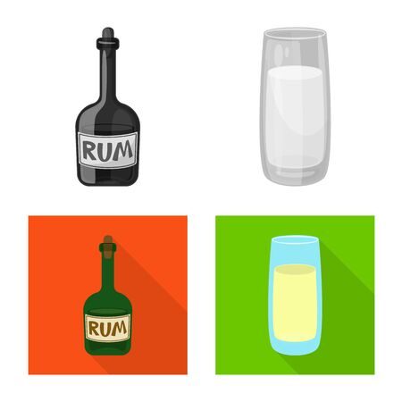 Isolated object of farm and agriculture sign. Set of farm and technology vector icon for stock.