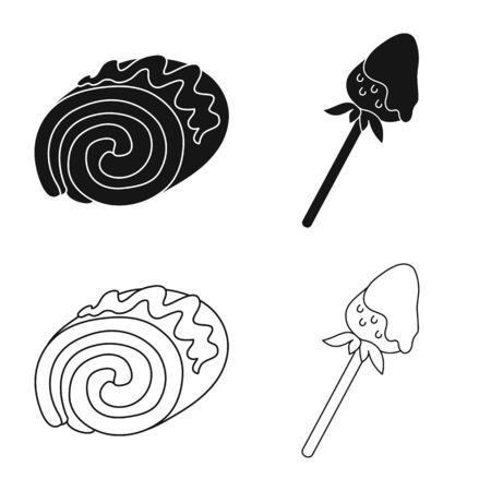 Vector illustration of confectionery and culinary icon. Collection of confectionery and product vector icon for stock. Imagens - 128438716
