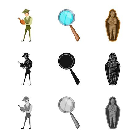 Isolated object of story and items icon. Set of story and attributes stock vector illustration. Ilustração
