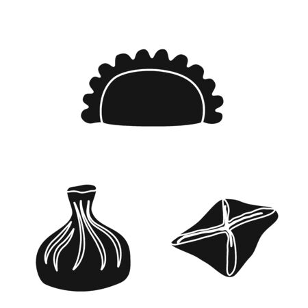 Vector illustration of cuisine  and appetizer sign. Set of cuisine  and food  vector icon for stock.