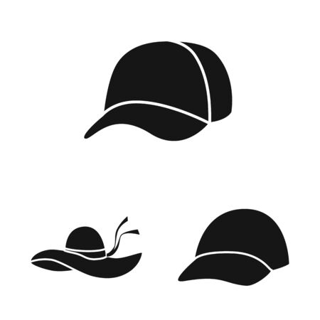 Vector illustration of beanie  and beret logo. Set of beanie  and napper stock vector illustration.