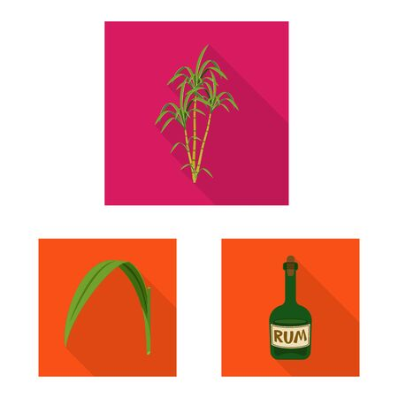 Isolated object of plant and plantation sign. Set of plant and agriculture stock symbol for web.