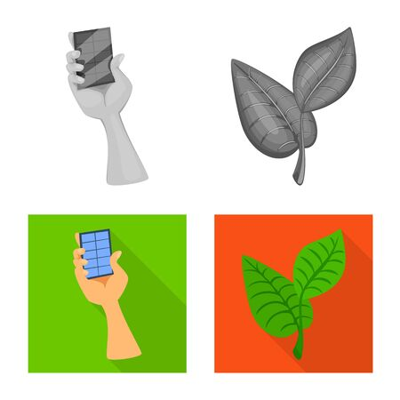 Isolated object of innovation and technology icon. Collection of innovation and nature stock vector illustration.