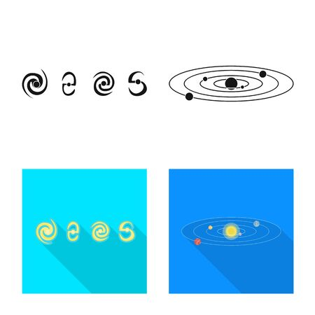 Vector illustration of astronomy and technology icon. Set of astronomy and sky stock vector illustration.