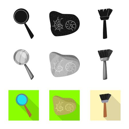 Vector design of story and items logo. Set of story and attributes stock vector illustration.  イラスト・ベクター素材