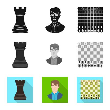 Isolated object of checkmate and thin symbol. Collection of checkmate and target vector icon for stock.