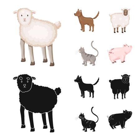Vector design of breeding and kitchen logo. Set of breeding and organic stock symbol for web.  イラスト・ベクター素材