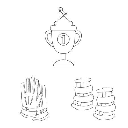 Vector illustration of horseback and equestrian icon. Collection of horseback and horse stock vector illustration.
