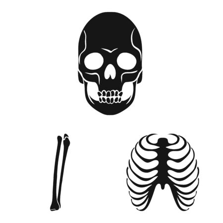 Isolated object of biology and medical icon. Collection of biology and skeleton vector icon for stock.