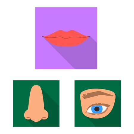 Isolated object of body part. Set of body and anatomy vector icon for stock.