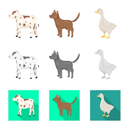 Isolated object of breeding and kitchen icon. Collection of breeding and organic vector icon for stock. Фото со стока - 129107048