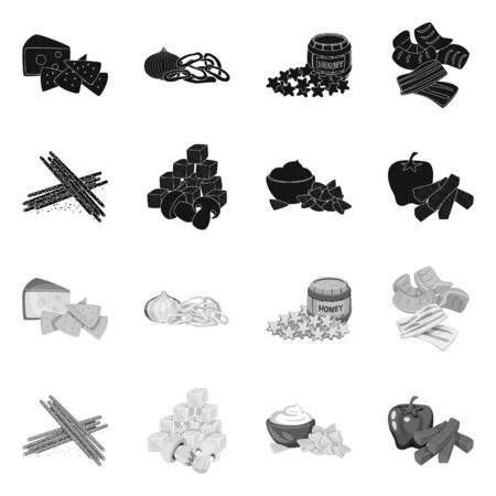 Vector illustration of taste and seasonin icon. Collection of taste and organic stock vector illustration.  イラスト・ベクター素材