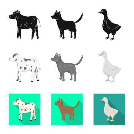 Isolated object of breeding and kitchen symbol. Set of breeding and organic stock vector illustration.  イラスト・ベクター素材