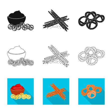 Isolated object of taste and seasonin icon. Collection of taste and organic vector icon for stock.  イラスト・ベクター素材