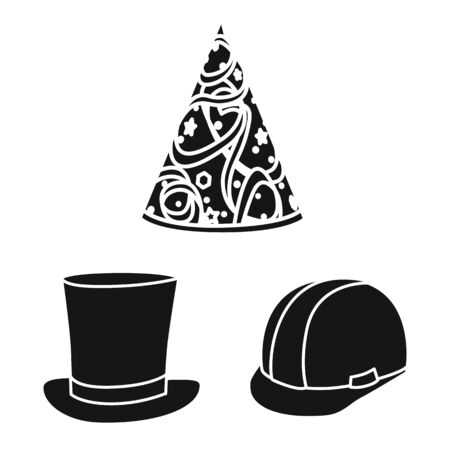 Vector design of beanie and beret icon. Set of beanie and napper stock symbol for web.