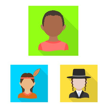 Vector design of nation and race icon. Set of nation and user vector icon for stock. Фото со стока - 129107732