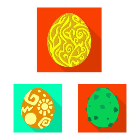 Vector illustration of story and big logo. Collection of story and prehistoric vector icon for stock.