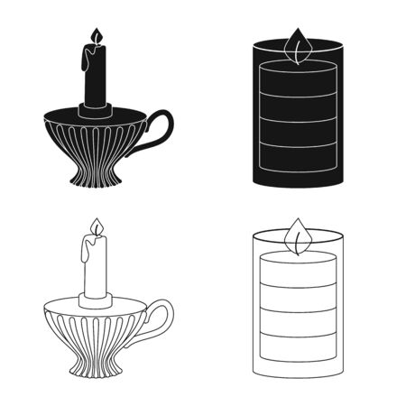 Vector design of relaxation and flame icon. Collection of relaxation and wax stock vector illustration.