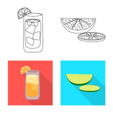 Vector illustration of cafe and Latin sign. Set of cafe and national stock vector illustration. 向量圖像