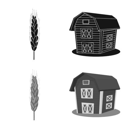 Vector design of agriculture and farming icon. Set of agriculture and plant stock symbol for web.