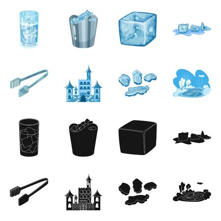 Vector illustration of texture and frozen. Collection of texture and transparent stock vector illustration.