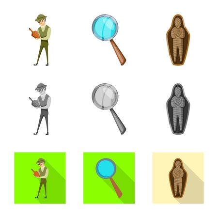Vector design of story and items icon. Set of story and attributes stock vector illustration. 일러스트
