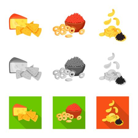 Vector design of taste and seasonin symbol. Collection of taste and organic vector icon for stock.