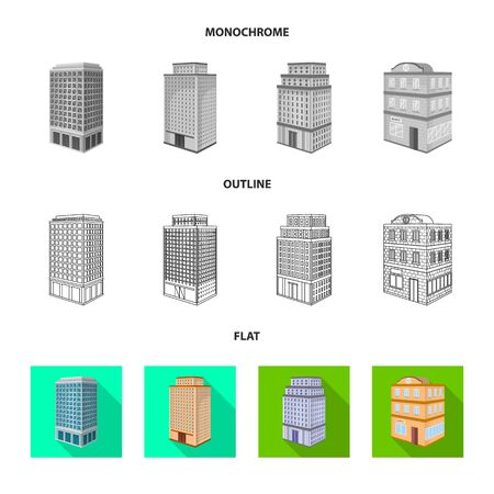 Isolated object of construction and building symbol. Set of construction and estate vector icon for stock. Illustration
