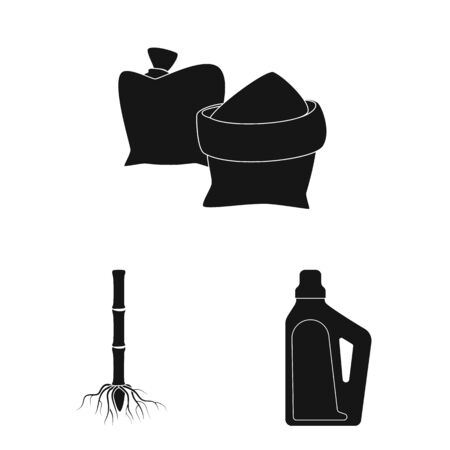 Vector illustration of sucrose and technology icon. Collection of sucrose and cane vector icon for stock.