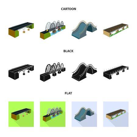 Vector design of connection and design symbol. Collection of connection and side vector icon for stock. Standard-Bild - 128779252