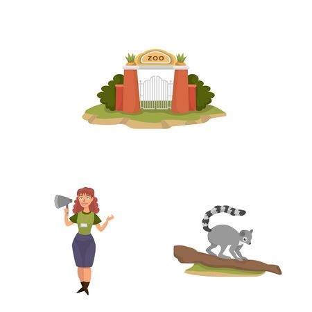Vector design of zoo and park. Collection of zoo and animal vector icon for stock.