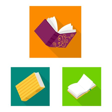 Isolated object of illustration and information icon. Set of illustration and cover vector icon for stock.