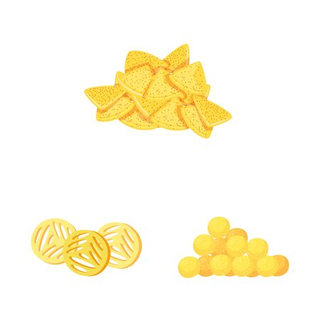 Vector illustration of food and crunchy sign. Collection of food and flavor vector icon for stock.