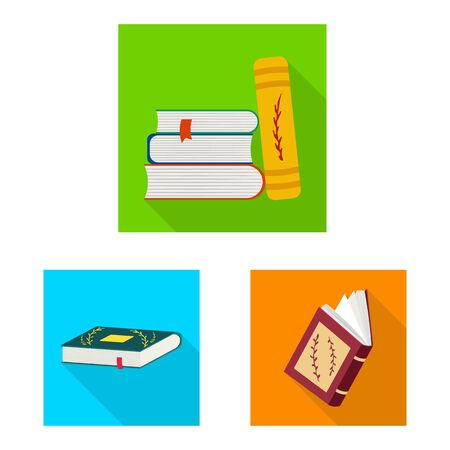 Vector design of illustration and information icon. Set of illustration and cover vector icon for stock. Stock Illustratie