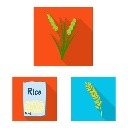Vector design of raw and agricultural icon. Collection of raw and ecological stock symbol for web.