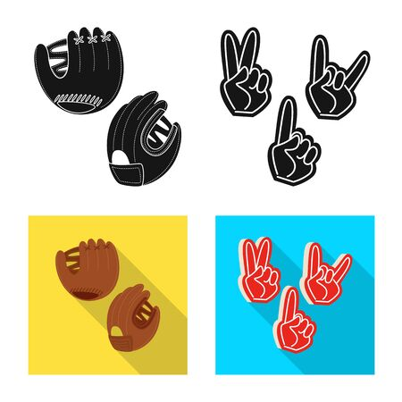 Vector illustration of silhouette and safety. Set of silhouette and comfort vector icon for stock.