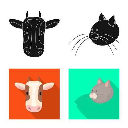 Vector illustration of agriculture and breeding icon. Collection of agriculture and organic vector icon for stock.
