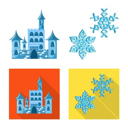 Isolated object of texture and frozen icon. Collection of texture and transparent stock vector illustration. Illustration