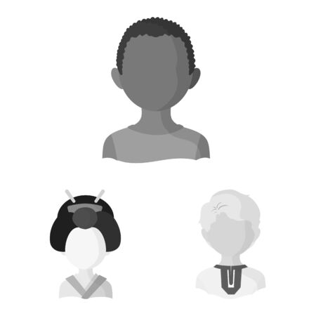 Vector illustration of person and culture icon. Collection of person and race stock vector illustration.