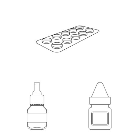 Vector design of pharmacy and pharmaceutical symbol. Collection of pharmacy and health vector icon for stock. Ilustrace