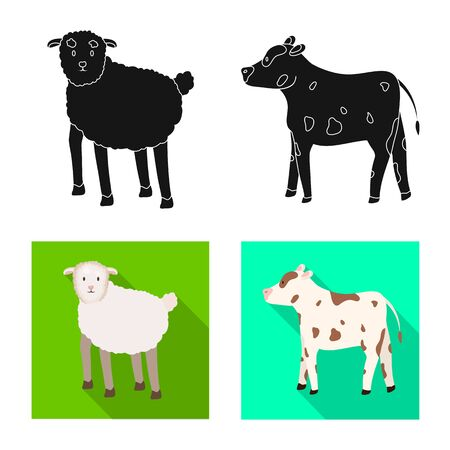 Isolated object of breeding and kitchen. Set of breeding and organic vector icon for stock. Фото со стока - 129109521