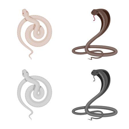 Illustrazione vettoriale di mammifero e icona di pericolo. Insieme di simbolo di borsa di mammifero e medicina per il web.