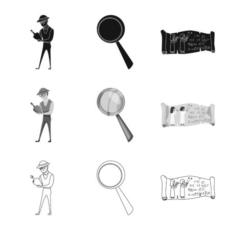 Vector design of story and items symbol. Collection of story and attributes vector icon for stock. Standard-Bild - 129109533