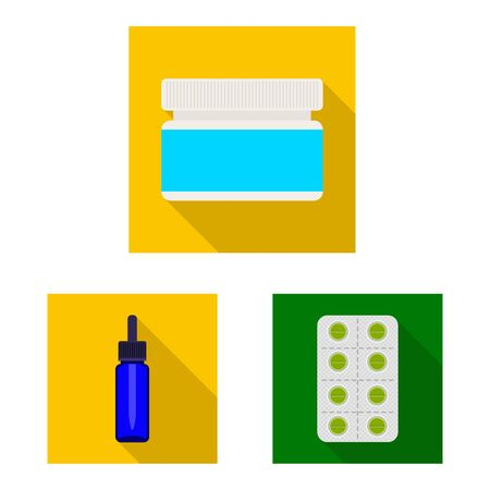 Isolated object of hospital and help. Collection of hospital and healthcare stock vector illustration.