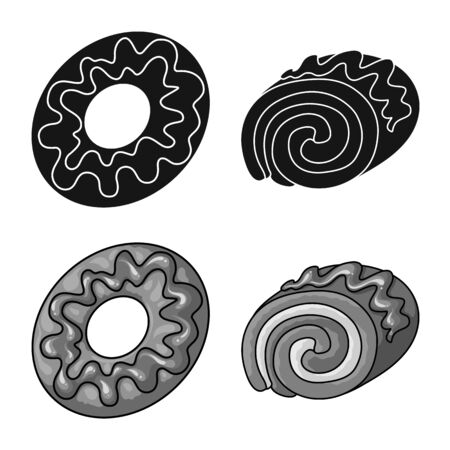 Vector design of confectionery and culinary. Collection of confectionery and product vector icon for stock. Imagens - 129110564